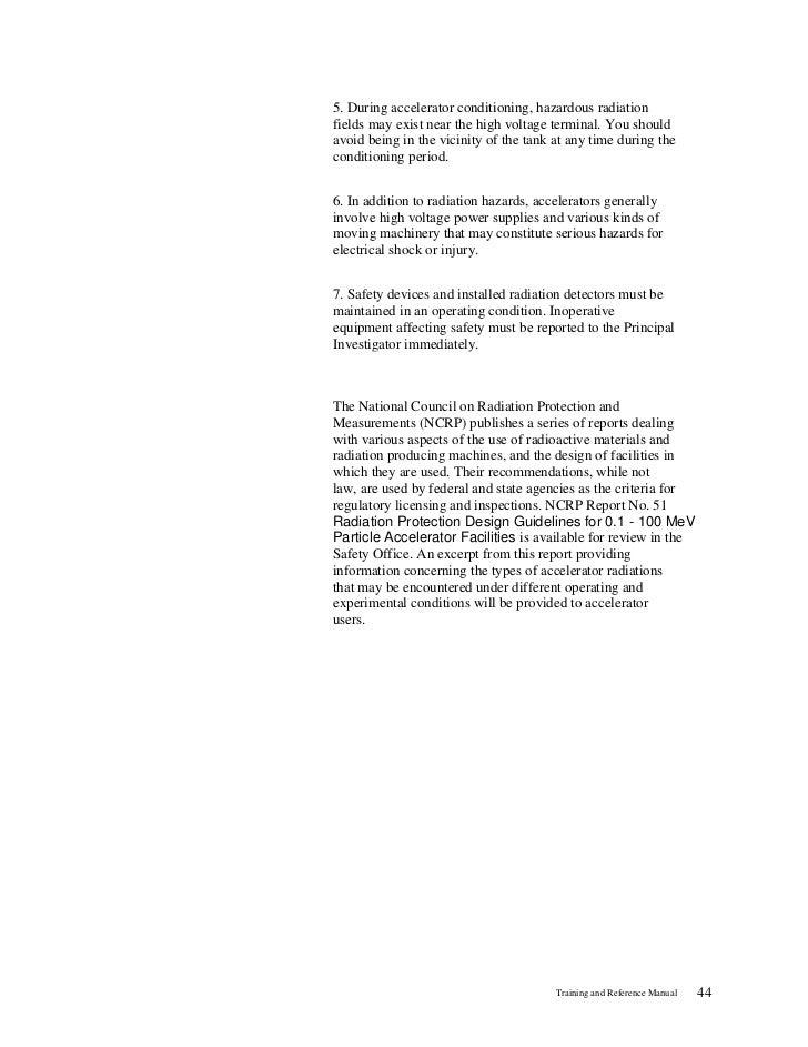 Radiation Safety Training Manual