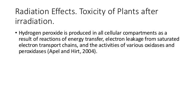 Toxicity effects of hydrogen peroxide to