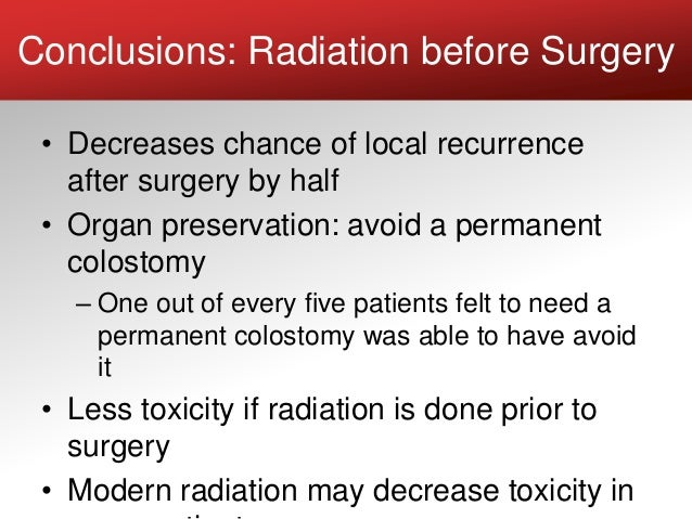 Radiation Treatment Of Rectal And Colon Cancer July 2017 Crcwebin