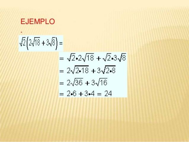 2. DIVISIÓN DE RAÍCES DE IGUAL ÍNDICE: Se dividen las bases y se conserva el índice.  EJEMPLO 1.