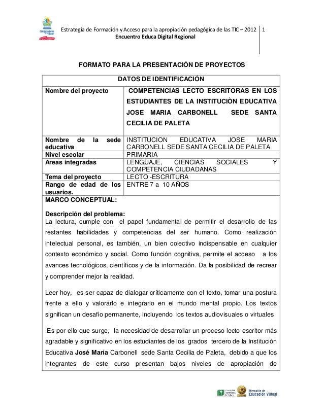 Estrategia de Formación y Acceso para la apropiación pedagógica de las TIC – 2012 1 Encuentro Educa Digital Regional  FORM...