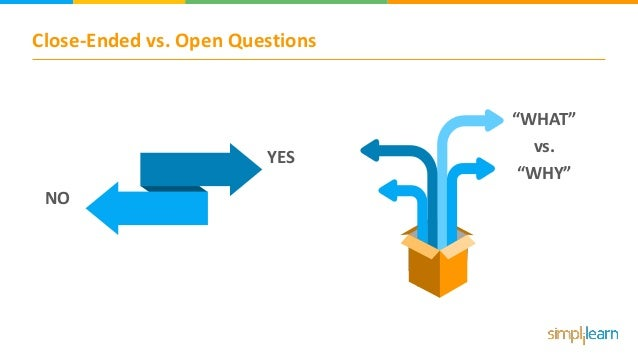 """Close-Ended vs. Open Questions YES NO """"WHAT"""" vs. """"WHY"""""""
