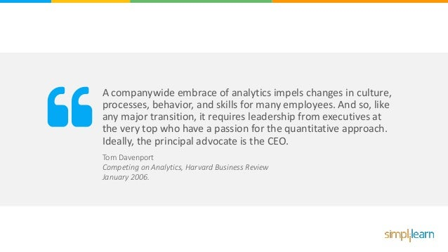 A companywide embrace of analytics impels changes in culture, processes, behavior, and skills for many employees. And so, ...