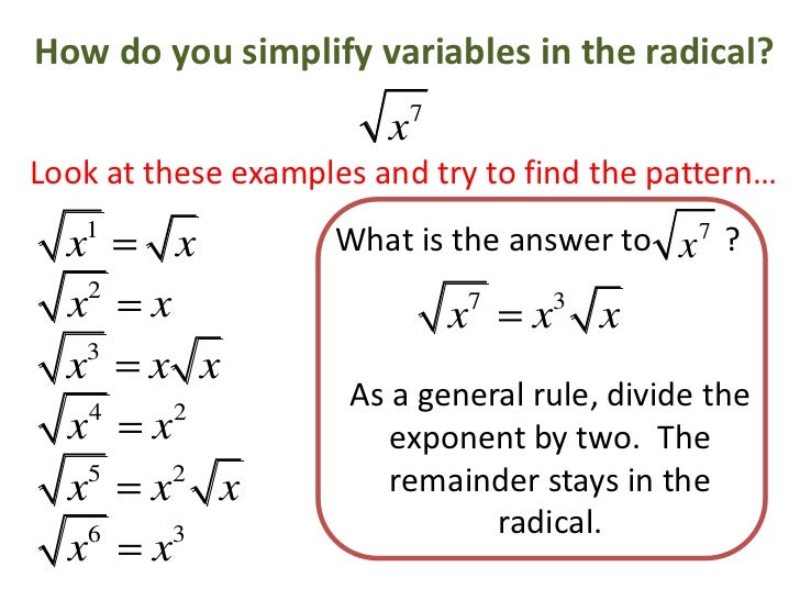 how to love for exponent variable