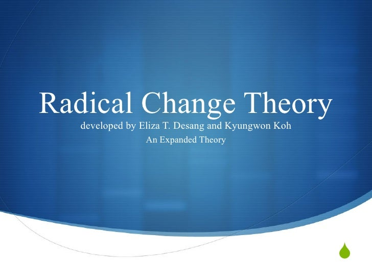 Radical Change Theory developed by Eliza T. Desang and Kyungwon Koh An Expanded Theory