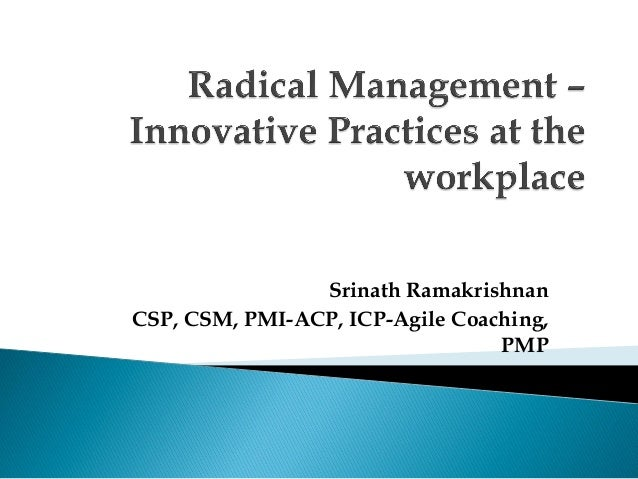 Innovative Classroom Management Practices ~ Radical management innovative practices at the workplace
