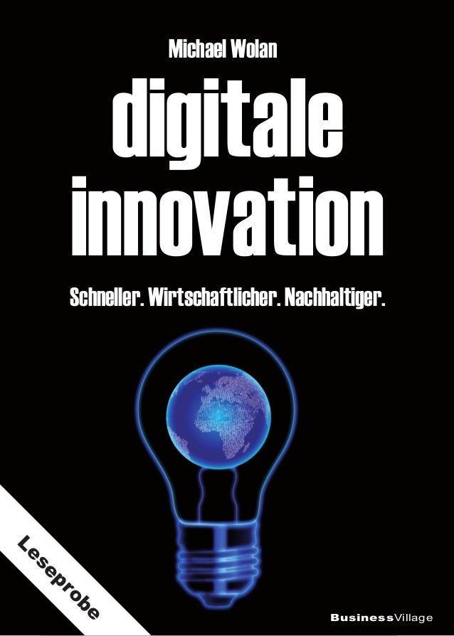digitale innovation Michael Wolan Schneller. Wirtschaftlicher. Nachhaltiger. BusinessVillage Leseprobe