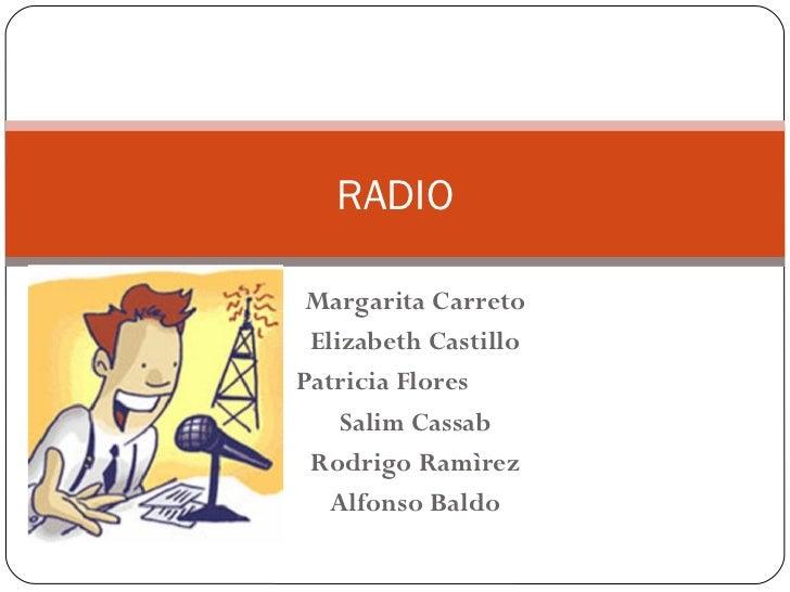 Margarita Carreto Elizabeth Castillo Patricia Flores Salim Cassab Rodrigo Ramìrez Alfonso Baldo RADIO