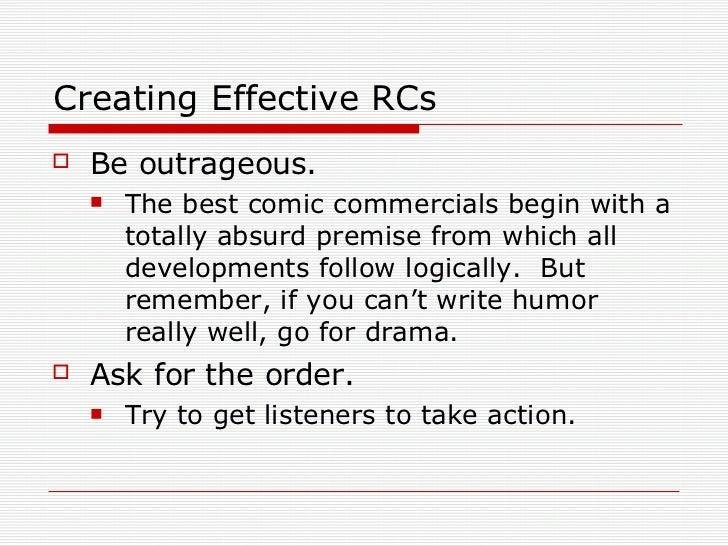 writing a good radio advertisement