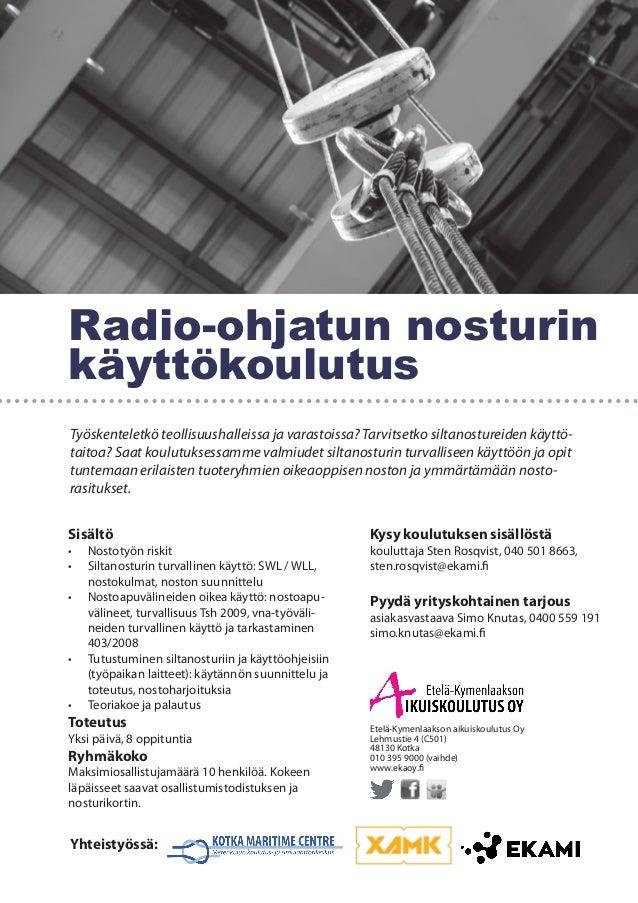 Radio ohjattu nosturikoulutus
