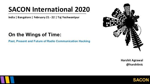 SACON SACON International 2020 India   Bangalore   February 21 - 22   Taj Yeshwantpur On the Wings of Time: Past, Present ...