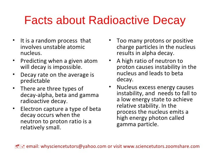 5 facts about radioactive decay