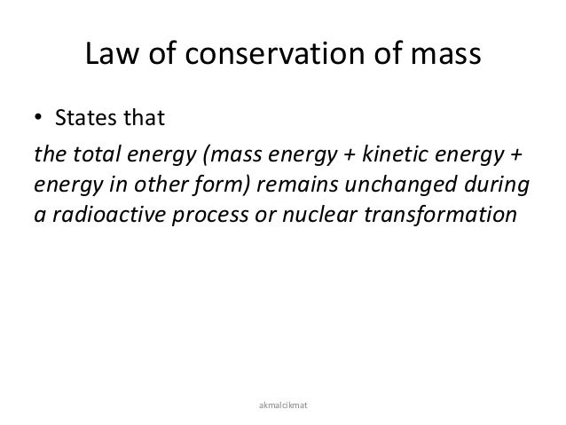 The Law of Conservation of Mass: Definition, Equation & Examples ...