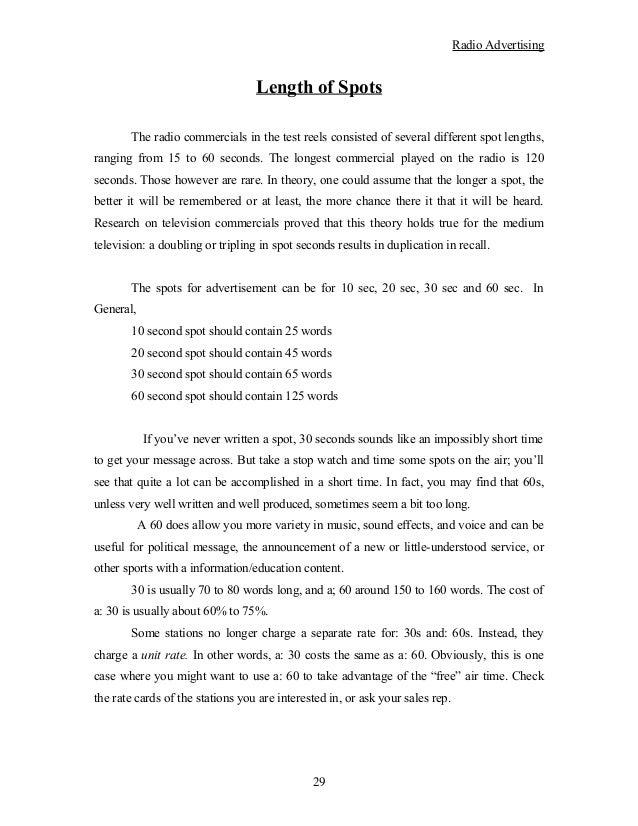 60 second radio script template