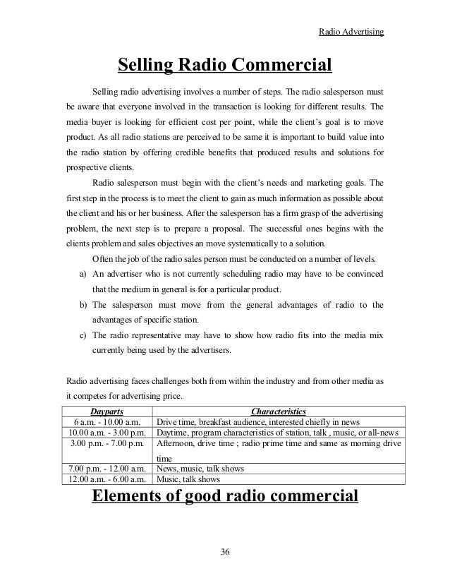 Radio Advertising Proposal Acurnamedia