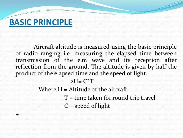 RADIO ALTIMETER PRINCIPLE PDF DOWNLOAD