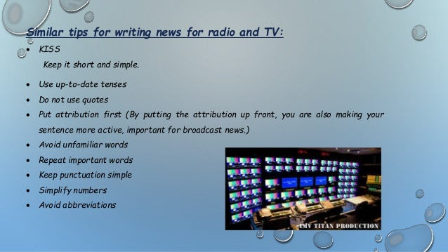 Radio and TV news,similarity,differences,structuring
