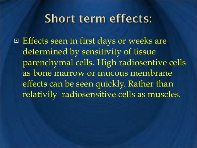 !  !  !  Effects that seen after months or years from exposure are loss of parenchymal cells and replaced by fibrous conne...