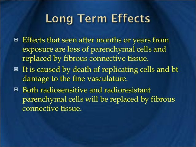 !  The biological response to radiation is dependent on several different factors. These include: !  1- Total Dose: the hi...