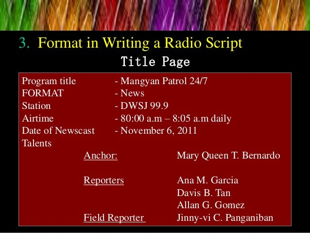 Tips for Writing Radio News Scripts