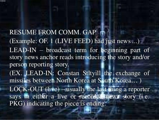 broadcasting news director resume