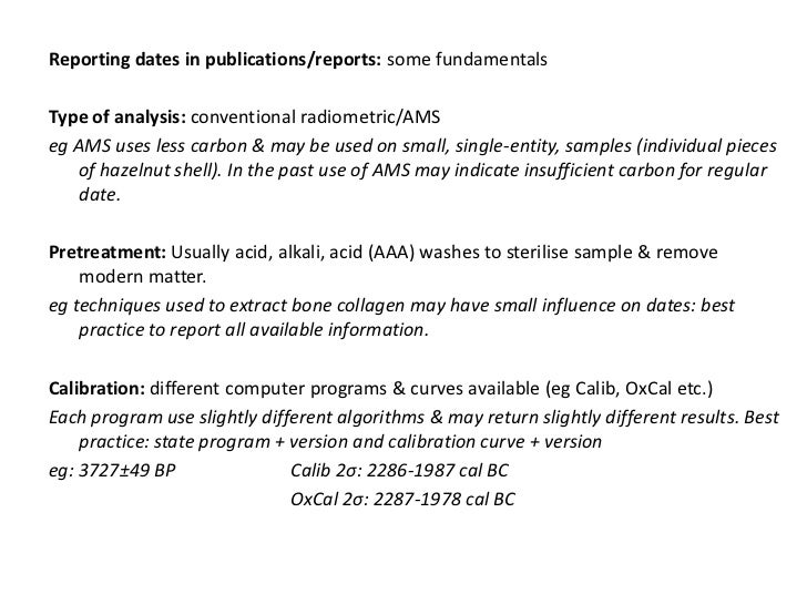 Radiocarbon dating summary best