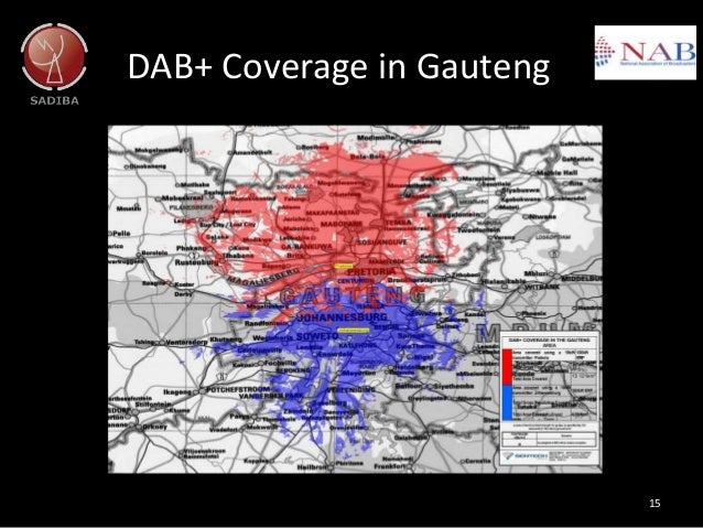 DAB+ Coverage in Gauteng 15