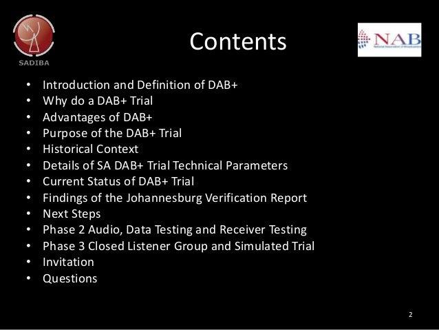 Radio days Africa  2016: DAB update Slide 2