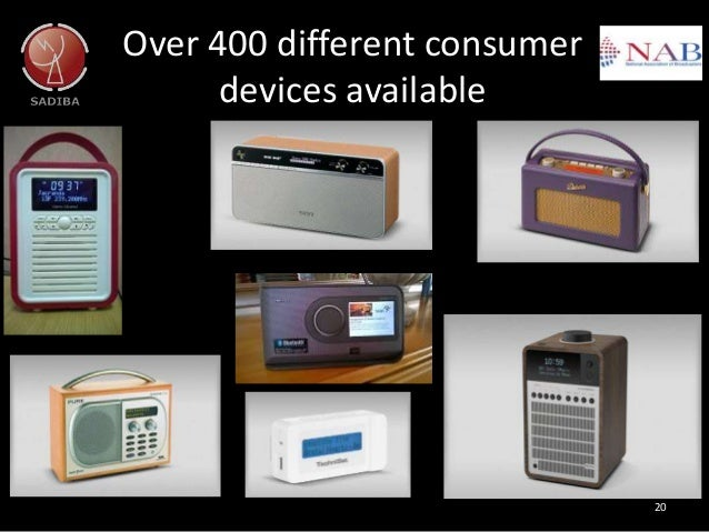 Over 400 different consumer devices available 20