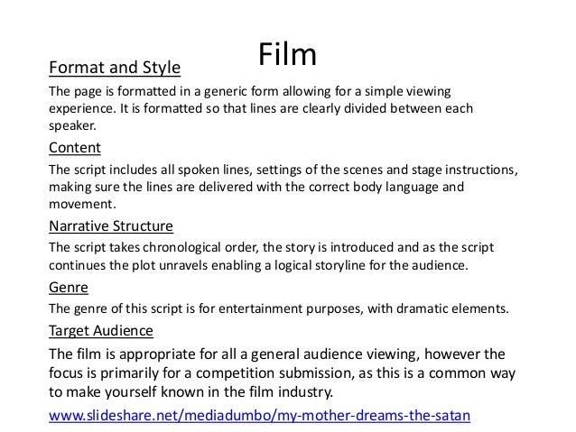 How to analyze a film