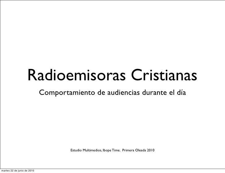 Radioemisoras Cristianas                              Comportamiento de audiencias durante el día                         ...