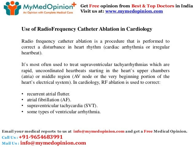Radiofrequency Catheter Ablation Treatment In India