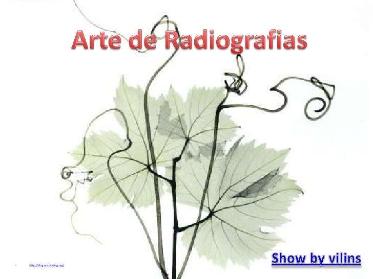 Arte de Radiografias<br />Show byvilins<br /><ul><li>http://blog.uncovering.org/</li></li></ul><li><ul><li>http://blog.unc...