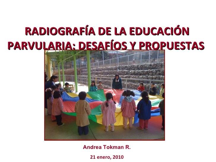 RADIOGRAFÍA DE LA EDUCACIÓN PARVULARIA: DESAFÍOS Y PROPUESTAS  Andrea Tokman R. 21 enero, 2010
