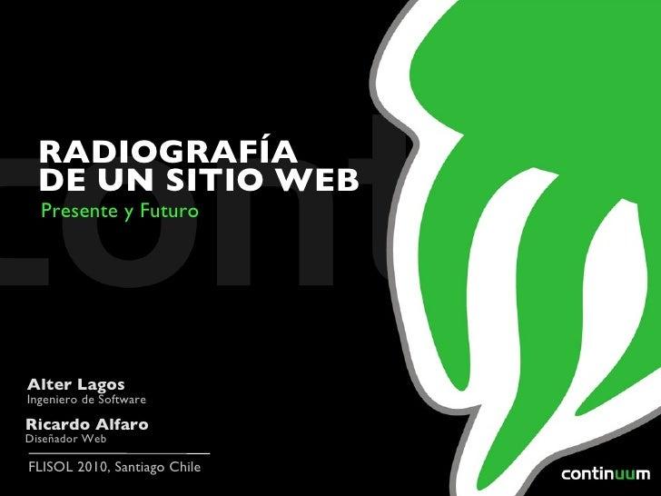 <ul>Ricardo Alfaro Diseñador Web </ul><ul>Alter Lagos Ingeniero de Software </ul><ul>RADIOGRAFÍA DE UN SITIO WEB </ul><ul>...