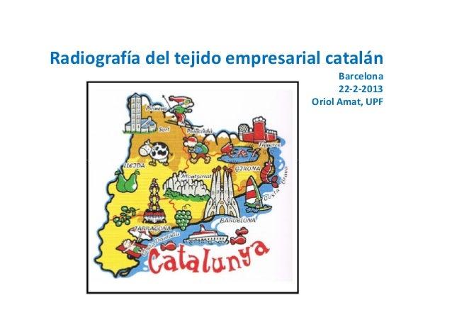 Radiografía del tejido empresarial catalán                                       Barcelona                                ...