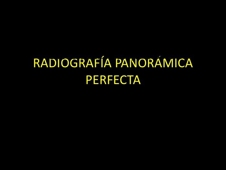RADIOGRAFÍA PANORÁMICA PERFECTA Radiografía dental KODAK CD de educación en radiografía extraoral