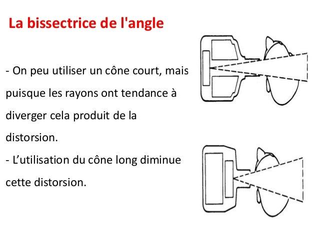 Pour minimiser le grossissement et l'imprécision, il est nécessaire d'augmenter la distance foyer-objet (DFO ou DFF). Un c...