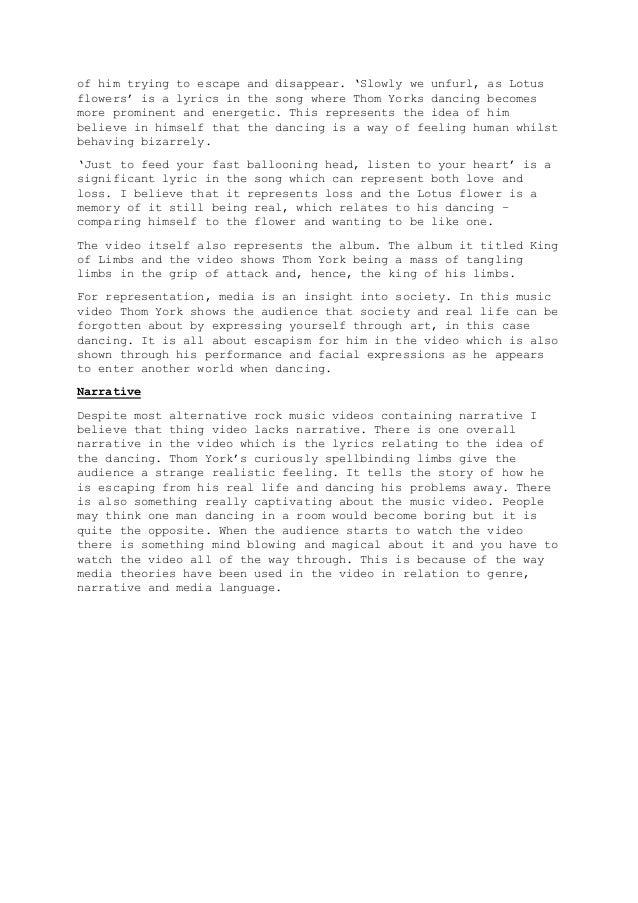 Radiohead Lotus Flower Music Video Analysis