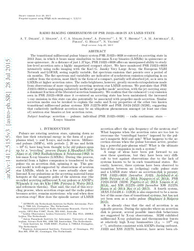 arXiv:1412.5155v3[astro-ph.SR]28Jul2015 Draft version July 29, 2015 Preprint typeset using LATEX style emulateapj v. 5/2/1...