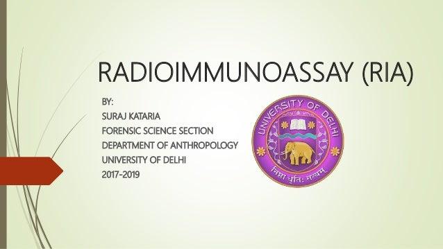 Radioimmunoassay  Ria