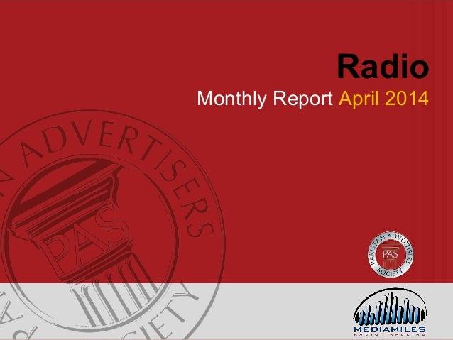 Radio Monthly Report April 2014