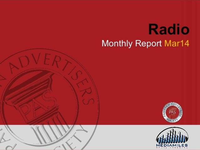 Radio Monthly Report Mar14