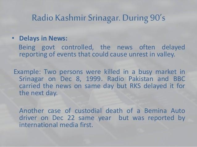 Radio in Kashmir