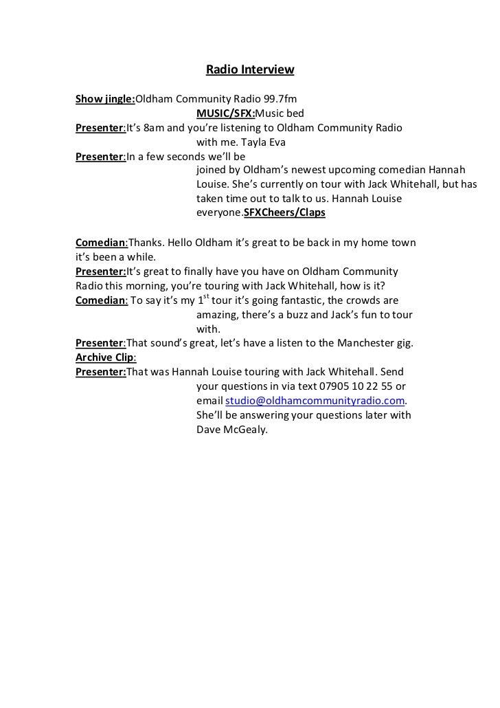 radio show format template