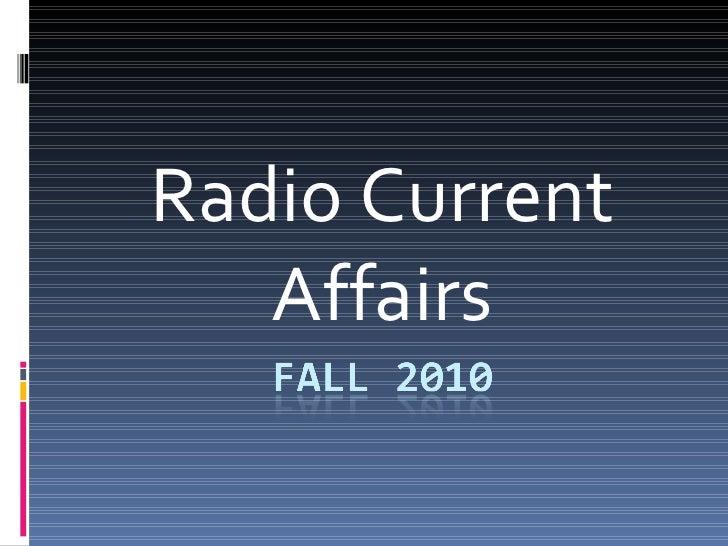 Radio Current Affairs