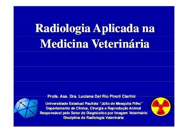 Radiologia Aplicada naRadiologia Aplicada naRadiologia Aplicada naRadiologia Aplicada na Medicina VeterináriaMedicina Vete...