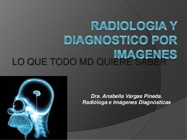 LO QUE TODO MD QUIERE SABER Dra. Anabella Vargas Pineda. Radióloga e Imágenes Diagnósticas