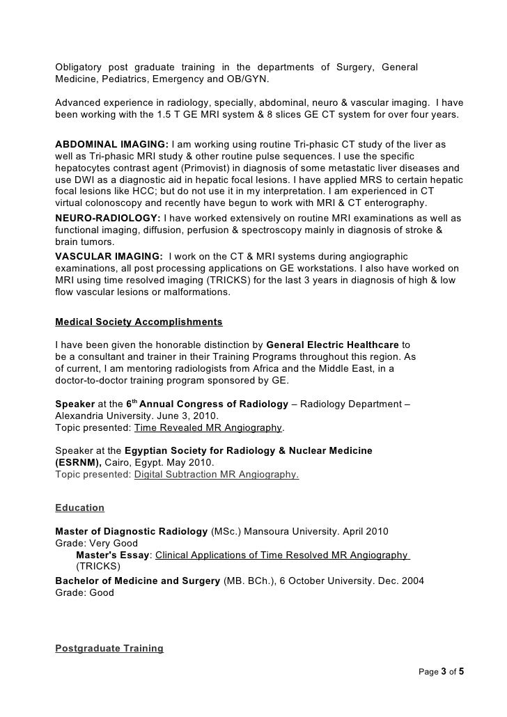 clinical activities page 2 of 5 3 - Radiologist Resume