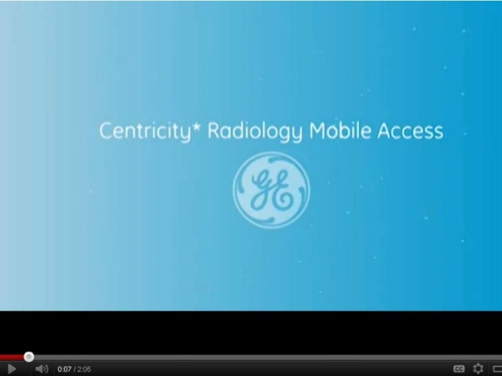 Centricity Radiology Mobile Access Demo